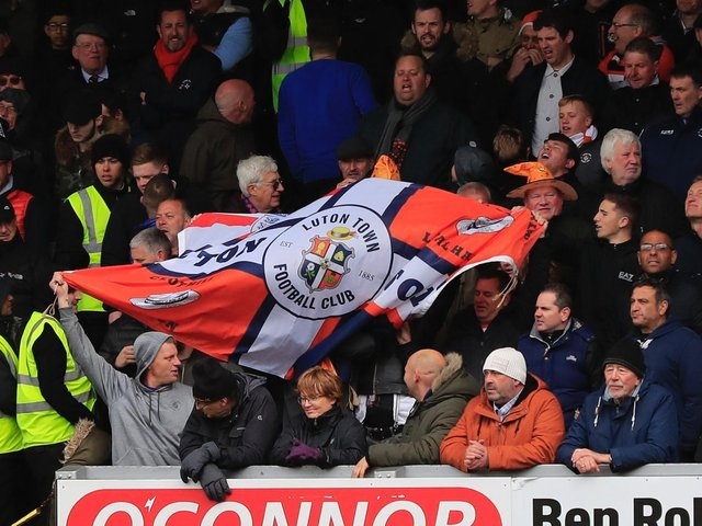 Luton had hoped to welcome some fans back for this weekend's game against Derby County