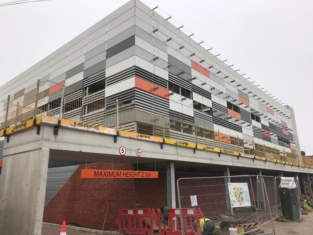 The new multi-storey car park opens today