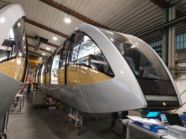 Passenger cabins are being added to the £225m DART