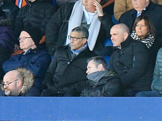 Nottingham Forest boss Chris Hughton watches a Luton game last season