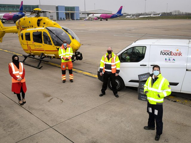 Luton Airport has teamed up with Luton Foodbank and East Anglian Air Ambulance in a three year charity deal