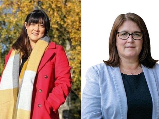Luton North MP Sarah owen (left) and Luton South MP Rachel Hopkins (right)