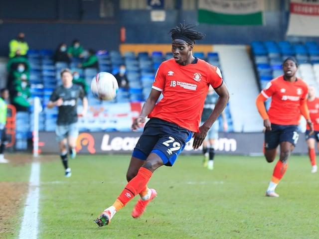 New Luton striker Elijah Adebayo