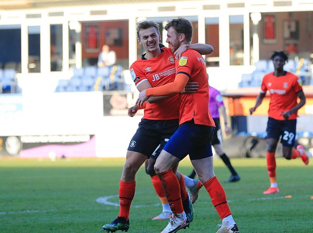Ryan Tunnicliffe celebrates his goal against Sheffield Wednesday on Saturday