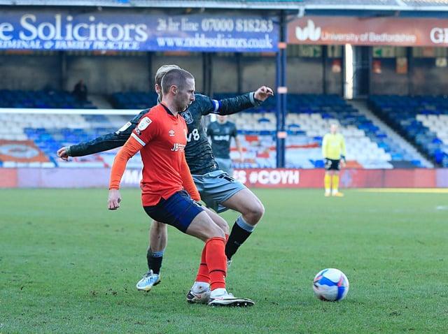 Town midfielder Jordan Clark