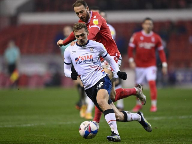 Kiernan Dewsbury-Hall on the ball during Tuesday's win at Nottingham Forest