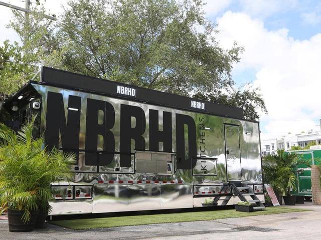 An artist's design of REEF's neighbourhood kitchen (NBRHD) concept