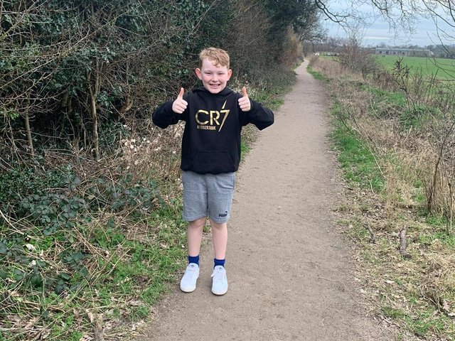 The eight-year-old wanted to walk or run at least two miles every day in February to help feed the animals at Whipsnade Zoo