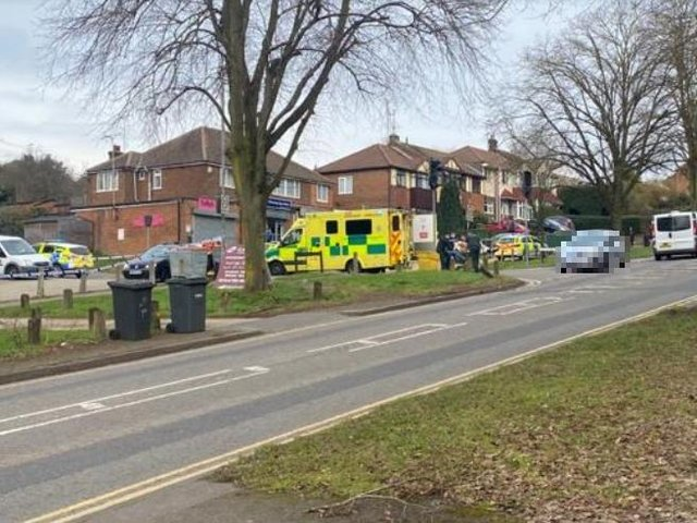 Emergency services at today's incident in Eaton Green Road