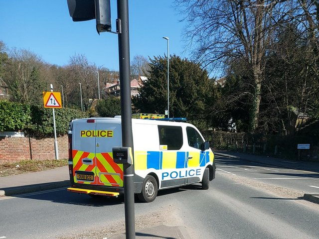 Emergency services are at the scene of the crash