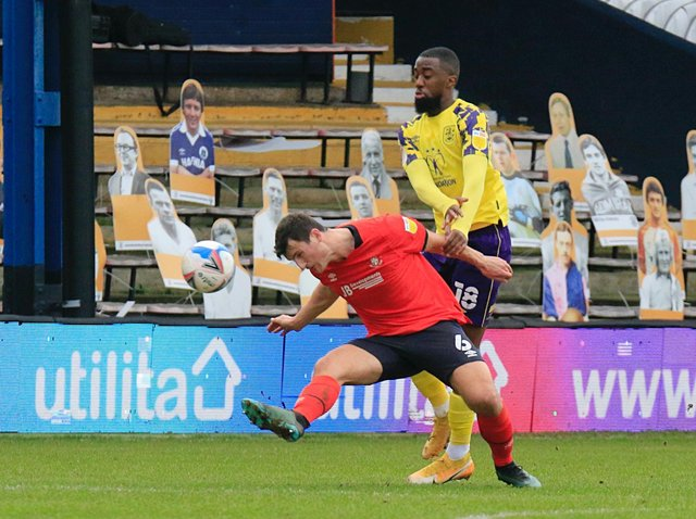 Hatters defender Matty Pearson