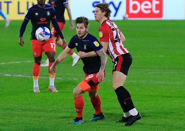 Hatters striker James Collins