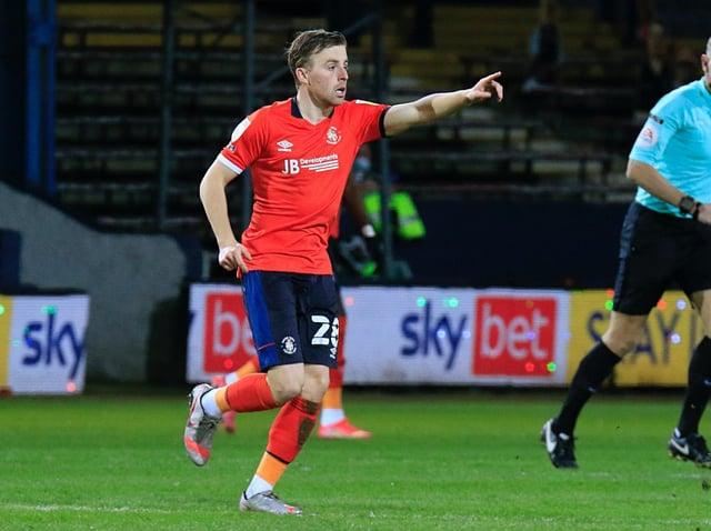 Luton midfielder Joe Morrell