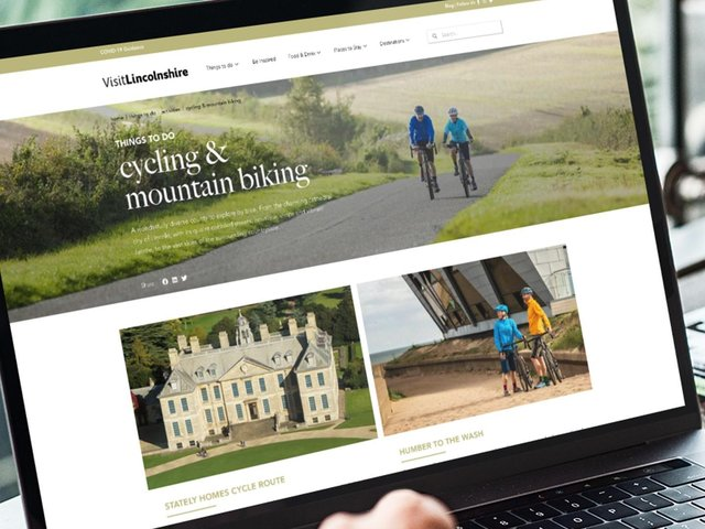 The new Visit Lincolnshire website.