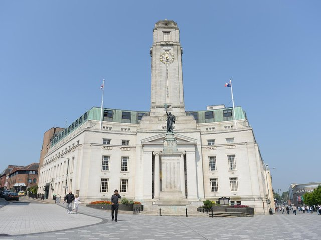 Luton Town Hall will be lit in yellow for tomorrow's National Day of Reflection