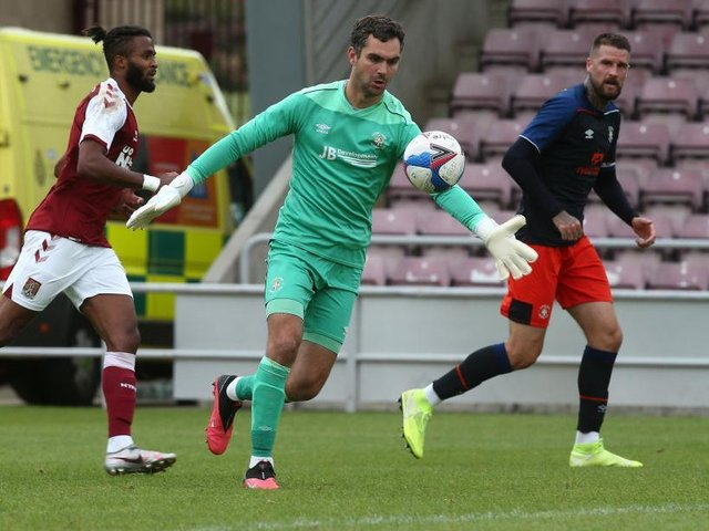 Town keeper James Shea played 45 minutes for the Hatters U21s