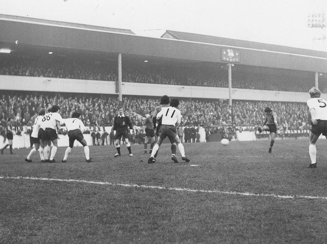 Alan Slough scores Luton's previous winner at Preston North End in January 1972