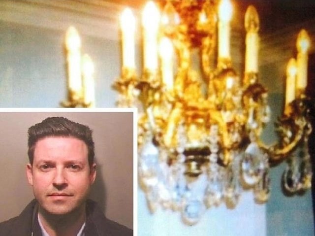 Anthony McGrath (inset) staged a fake burglary at the Luton Hoo estate