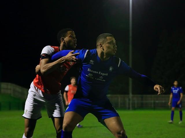 Town defender Avan Jones