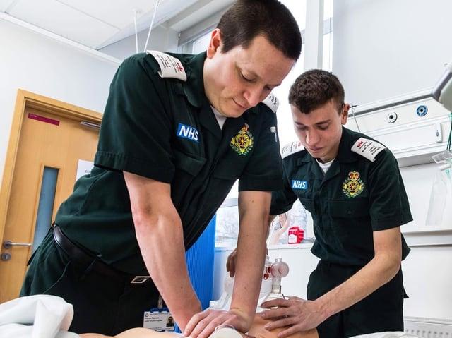 Student University of Bedfordshire paramedics training