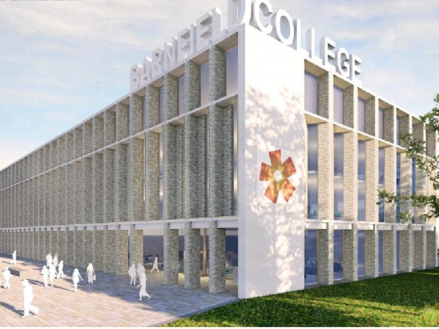 An artist's rendition of the new campus