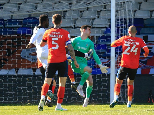 Luton fall 2-0 behind against Barnsley on Monday