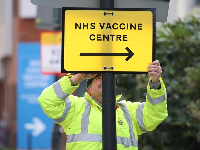 Approximately 49% of people over 16 in Luton have received their first dose of a coronavirus vaccination