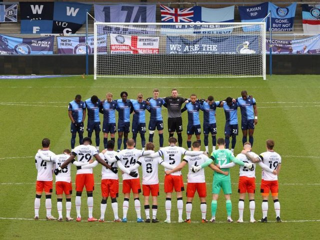 Luton and Wycombe hold a two minute silence for Prince Philip who died on Friday