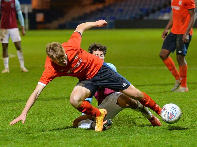 Ed McJannet scored for Luton U18s at the weekend