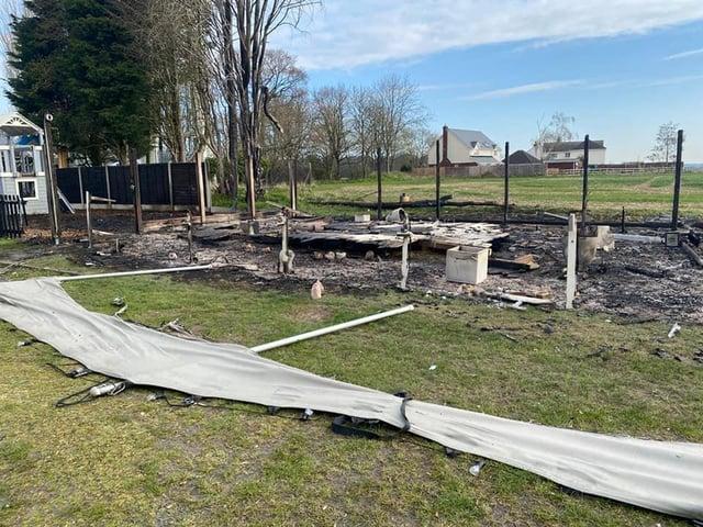 The pub's Secret Garden has been destroyed