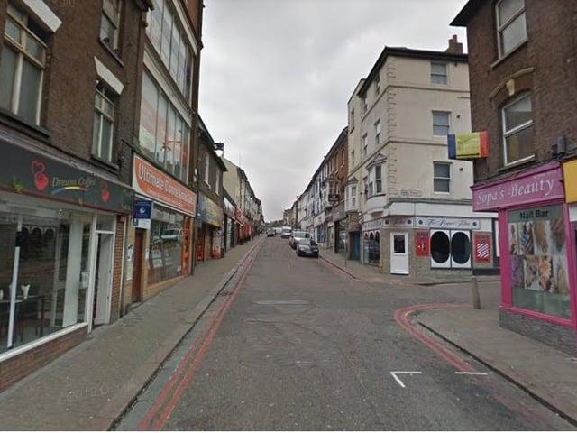 Wellington Street has been named Luton's parking fine blackspot, according to the study
