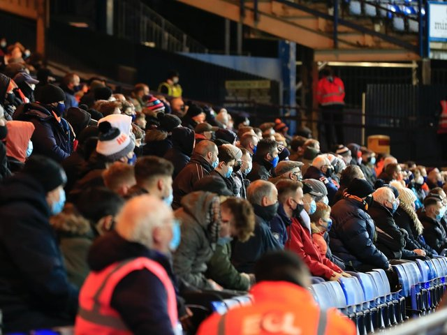 Luton welcome fans back for the 3-0 win over Preston earlier in the season
