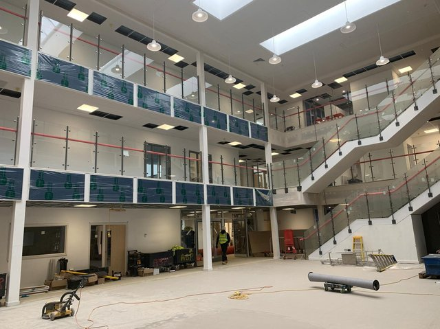 The new Putteridge High School building will offer up-to-date facilities for students