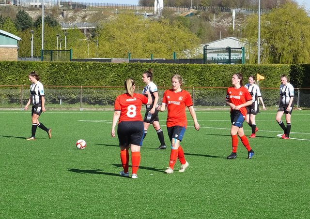 Luton Ladies celebrate another goal at the weekend