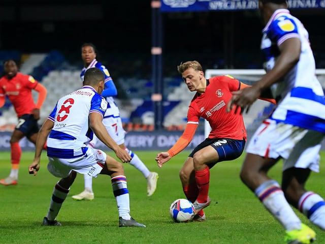 Kiernan Dewsbury-Hall on the ball against Reading
