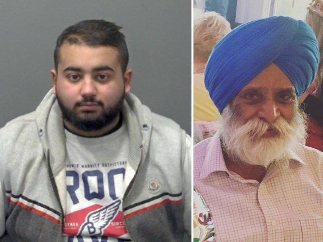Hassan Javaid (left) mounted the pavement with his vehicle and struck 74-year-old Gurdial Dhalliwal (right)