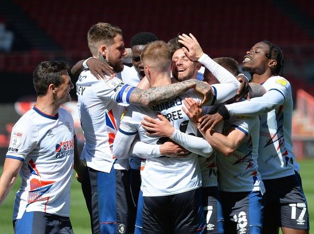 Harry Cornick celebrates scoring the winner at Bristol City on Sunday - pic: Gareth Owen