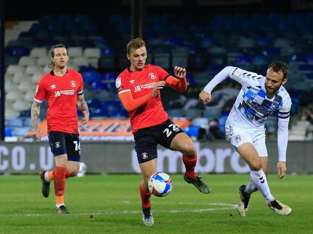 Hatters on-loan midfielder Kiernan Dewsbury-Hall
