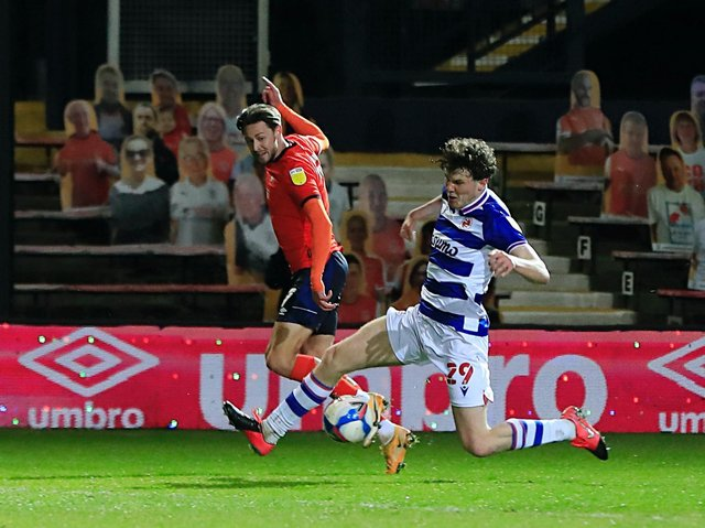 Harry Cornick delivers a cross against Reading recently