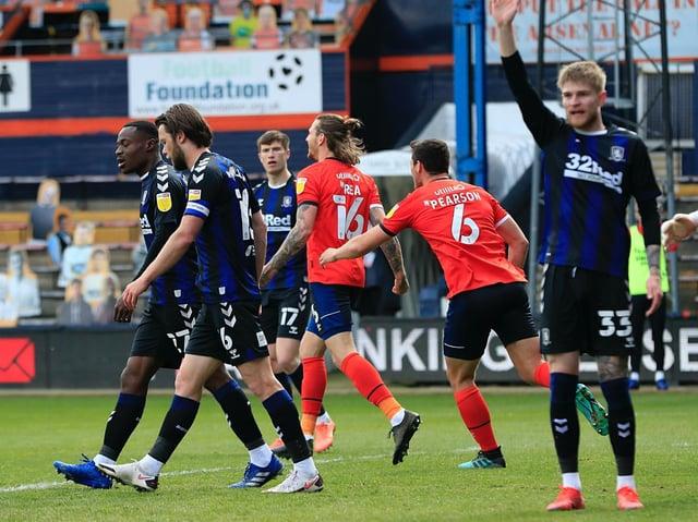 Glen Rea celebrates his goal against Middlesbrough on Saturday