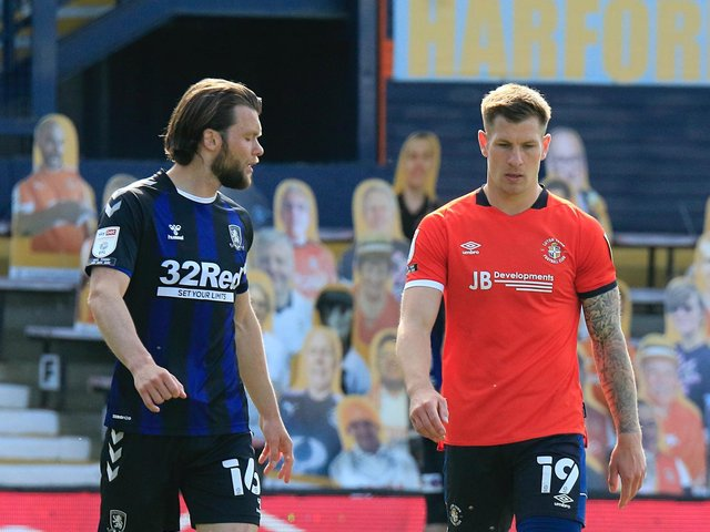 Town striker James Collins missed from the spot on Saturday