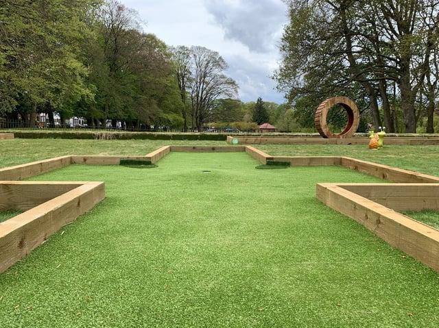 Wardown Park's new crazy golf course