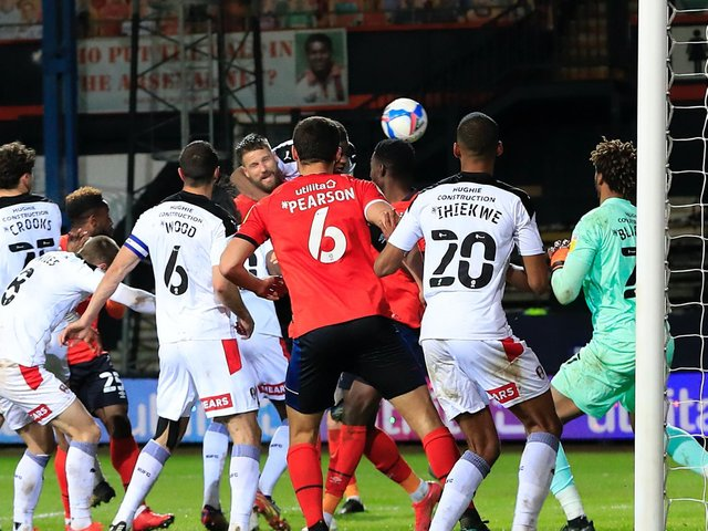 Sonny Bradley saw his late header disallowed against Rotherham last night