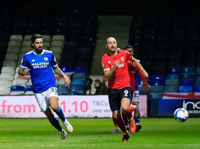 Town striker Danny Hylton