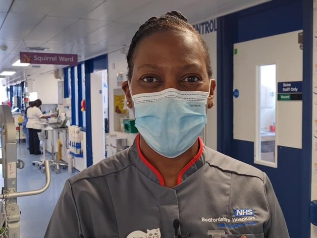 Marva Desir, Deputy Head Nurse for Children's Services, who works at the Luton & Dunstable Hospital
