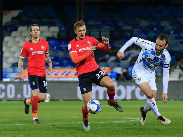 Town's on-loan Leicester midfielder Kiernan Dewsbury-Hall