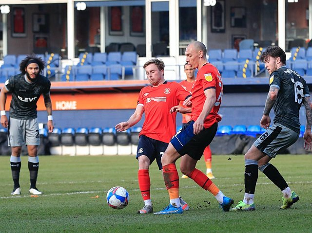 Town midfielder Joe Morrell on his last first team outing against Sheffield Wednesday in February
