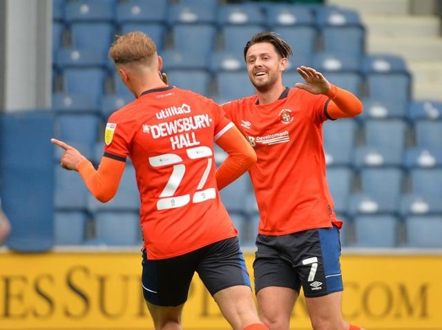 Kiernan Dewsbury-Hall celebrates his goal against QPR on Saturday - pic: Gareth Owen