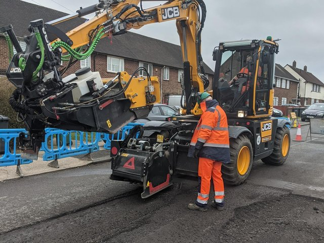 The Luton demonstration took place recently in Bolingbroke Road