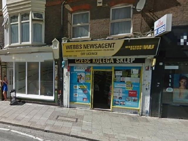 Webb's News on New Bedford Road